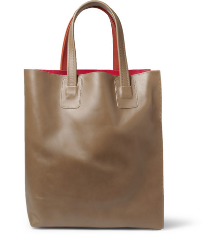 MarniPanelled Leather Tote Bag|MR PORTER