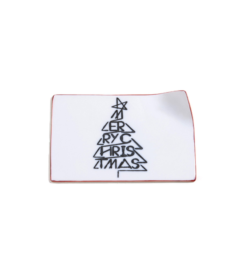 - table wear closet - Christmas Letter Plate-MERRY CHRISTMAS-red