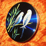 eBay 【セカイモン】- コンパクト > LOVELY VINTAGE ENAMELLED BUDGIE/ BUDGERIGAR COMPACT MIRROR: 海外オークション