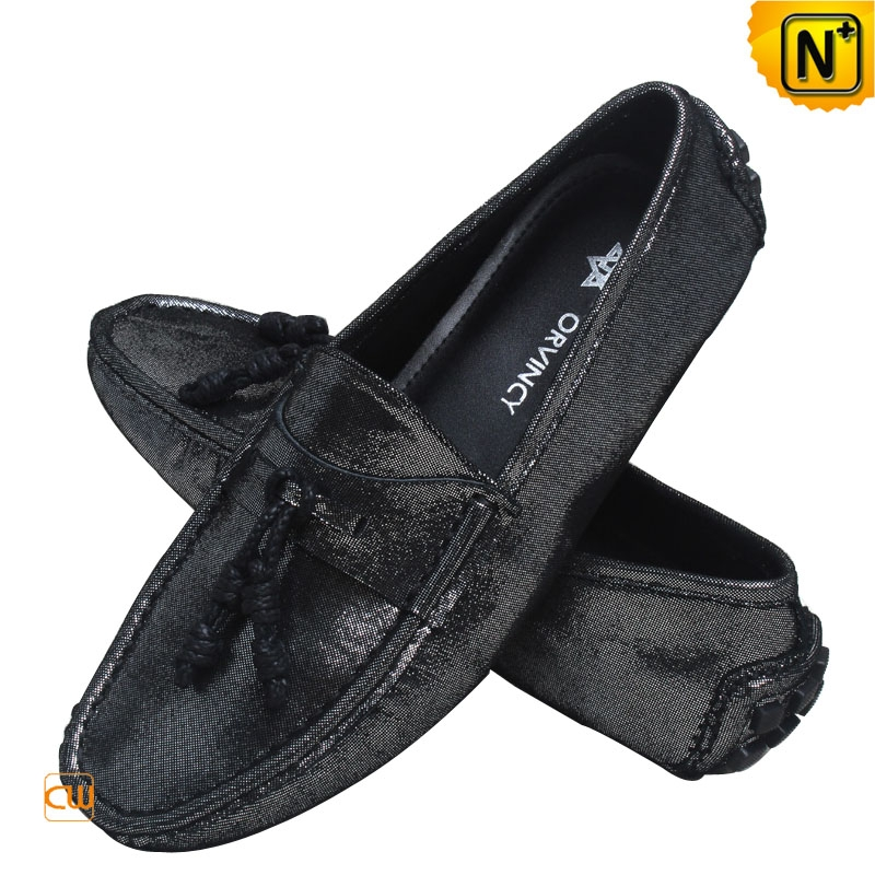 Mens Leather Driving Moccasin Loafer Shoes CW740160