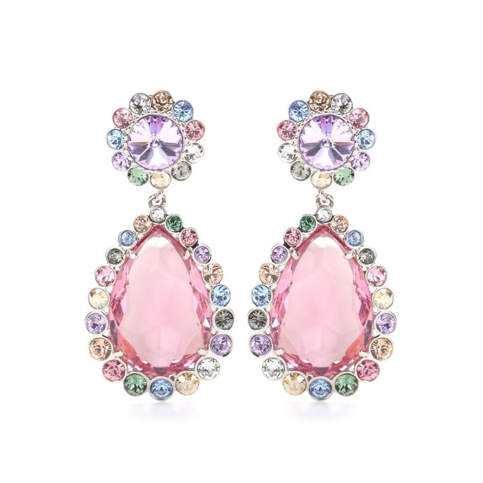 mytheresa.com - Crystal clip-on earrings - Earrings - Jewellery - Accessories - Miu Miu - Luxury Fashion for Women / Designer clothing, shoes, bags