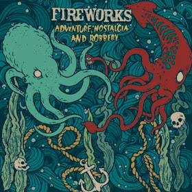"""Shower beers & Records: Fireworks – Adventure, Nostalgia and Robbery 7"""" (yellow/green split)"""