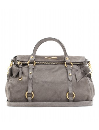 mytheresa.com - Miu Miu - BOW SUEDE TOTE - Luxury Fashion for Women / Designer clothing, shoes, bags