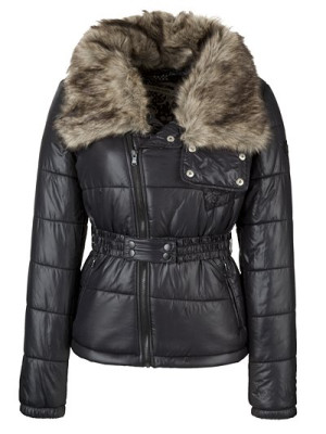 Diesel Gizza Padded Short Coat, Black Online | Shop at Style Compare