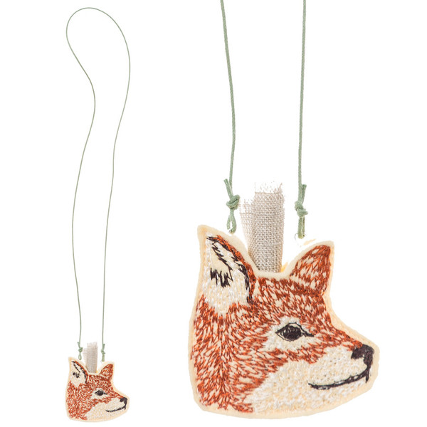 Coral and Tusk - fox pouch necklace