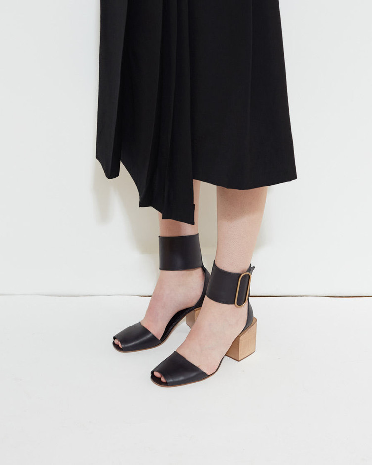 LEMAIRE | Block Heel Sandal | Shop at La Garçonne