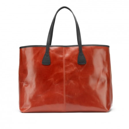 Alice Leather Tote Bag, large, in red from TUSTING