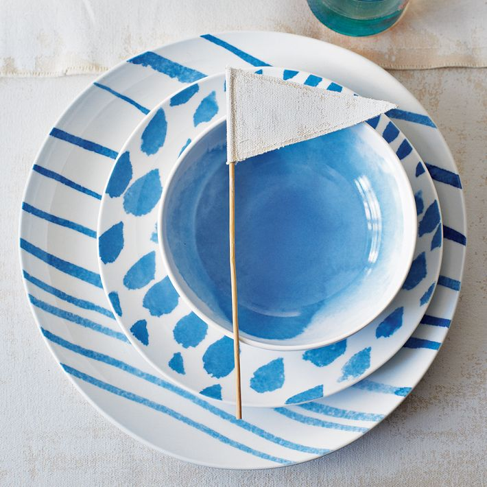 David Stark Brushstroke Dinnerware | west elm
