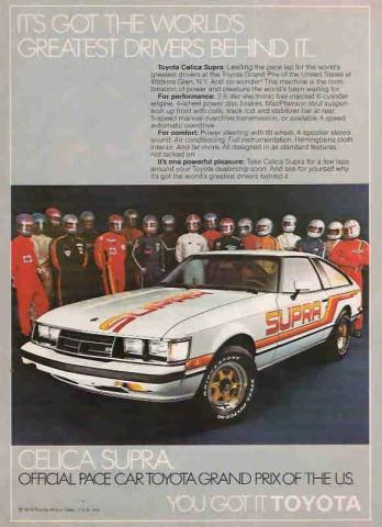 OLD PARKED CARS.: 1981 Toyota Celica Supra Turbo by TRD.