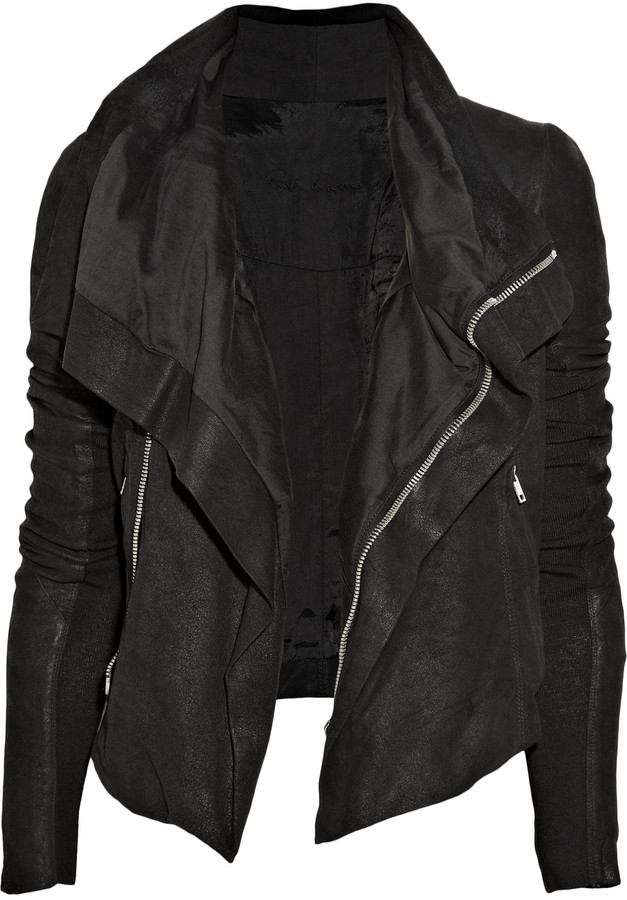 Rick Owens Blister washed-leather biker jacket for Sale