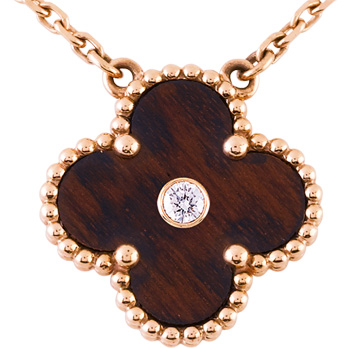 The Get | Van Cleef & Arpels Touch Wood Vintage Alhambra Pendant - NYTimes.com