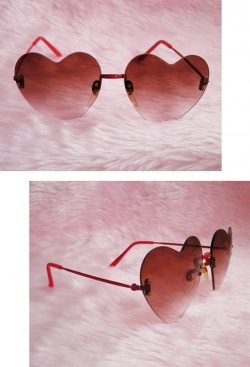 "Accessories - 1970's Vintage ""HEART SHAPED"" Sunglasses - Little ♥ Hideaway 〜ヴィンテージから現代まで〜 Candy Hearts♡USA & UK 輸入雑貨"