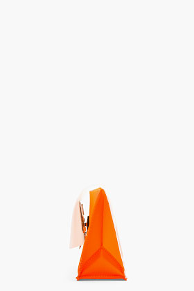 Proenza Schouler Orangina Frosted Extra Small Lunch Bag Clutch for women | SSENSE