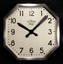 """1930's French Art Déco """"Stenciled Dial"""" Wall Clock 【大きいです】 - FUNNY SUPPLY"""