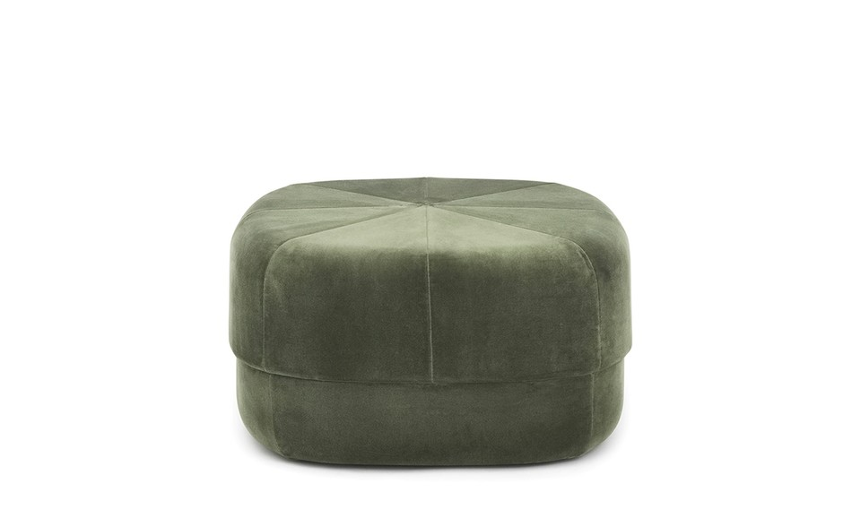 Circus Pouf large in dark green velour – Nordic Moroccan pouf