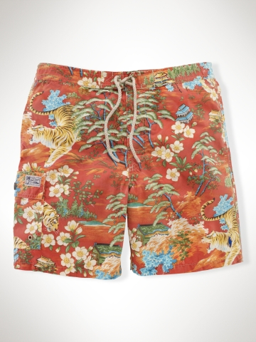 "Tiger Floral-Print 7"" Swim Trunk - Swim Shop   Men - RalphLauren.com"