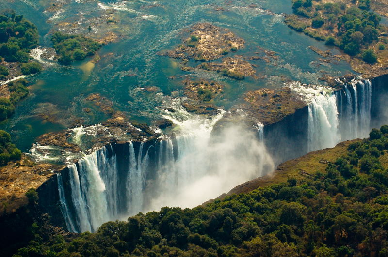 Victoria Falls, a photo from Matabeleland North, West   TrekEarth