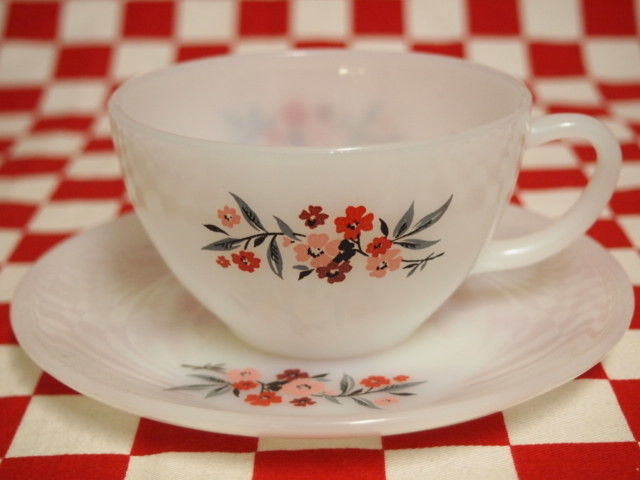Fire King Primrose Cup & Saucer #50 | Jadeite Magic Gallery