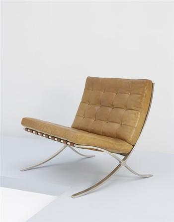 "LUDWIG MIES VAN DER ROHE Rare and important early ""Barcelona"" chair, ca. 1932 - Google 画像検索"