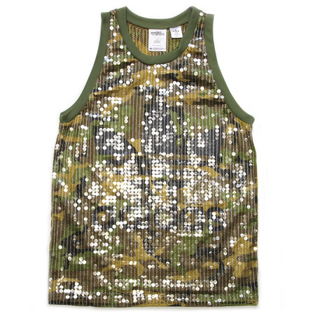 adidas ObyO JS SEQUINED TANK TOP CAMO CAMOUFLAGE
