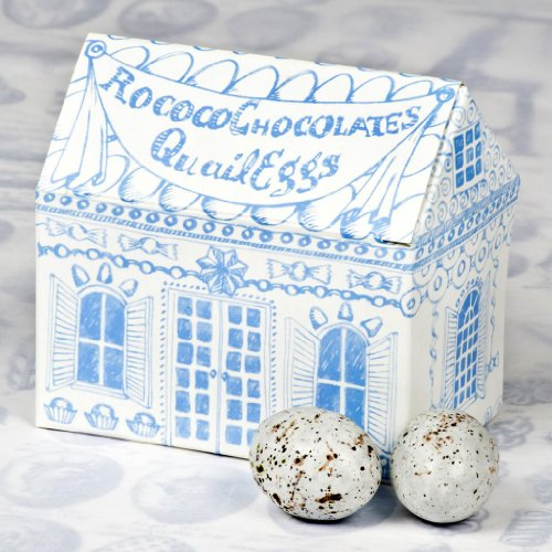 Quail Eggs in Light Blue Rococo House : Houses