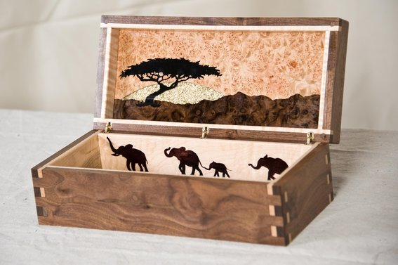 Custom African Themed Jewelry Box by AWL WoodWorks | CustomMade.com