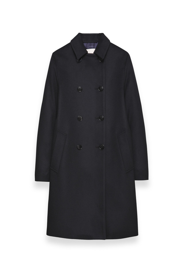 MACKINTOSH — LM 002F - DU02 NAVY wool doublebreasted coat £550...