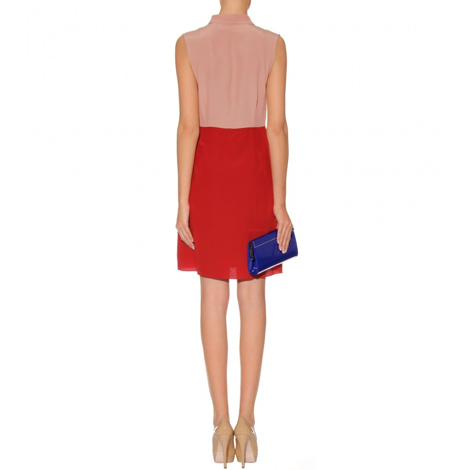 mytheresa.com - Marni - TWO TONE SILK DRESS - Luxury Fashion for Women / Designer clothing, shoes, bags