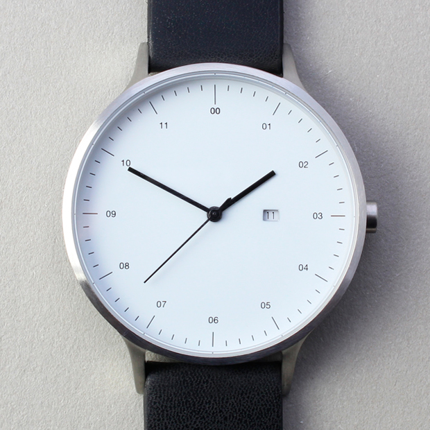 INSTRMNT 01-C (brushed/black) | Designer Watches | Dezeen Watch Store