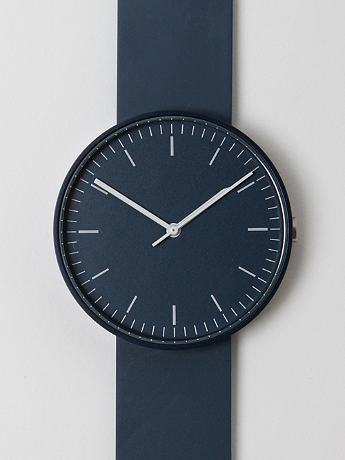 Uniform Wares 100 Series 102 Wrist Watch in blue at oki-ni