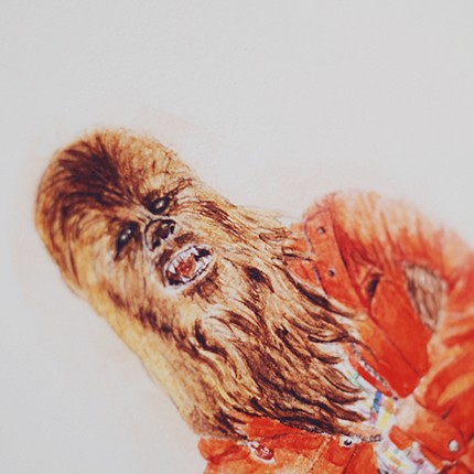 He Wears It 009 Chewbacca with Outdoor Style limited by wooszoo