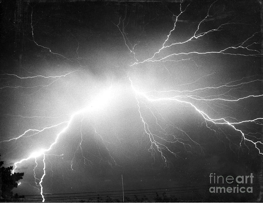 Lightning Photograph by Science Source - Lightning Fine Art Prints and Posters for Sale