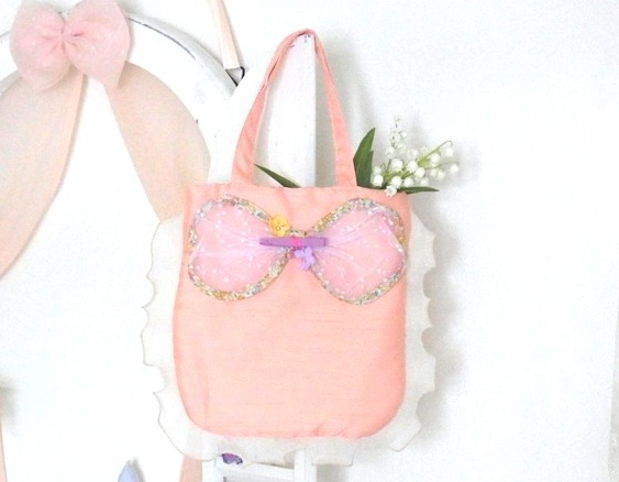 flower ribbon bag / pink - Joe & Ruban ジョーアンドリュバン