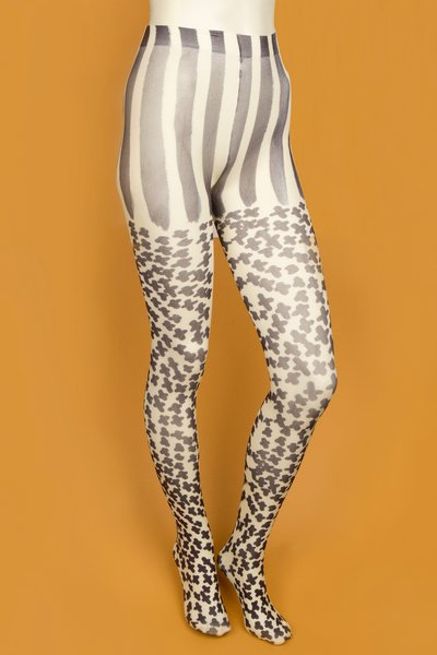 TSUMORI CHISATO CROSS PRINT TIGHTS - AI110 - WOMEN - JUST IN - OPENING CEREMONY