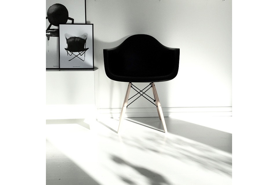 Magdalena Tyboni Design ポスター/アートプリント 30 x 40 cm Chair Butterfly