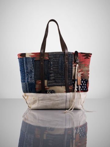 Patched Blanket Canvas Tote - Collection Handbags   Handbags - RalphLauren.com