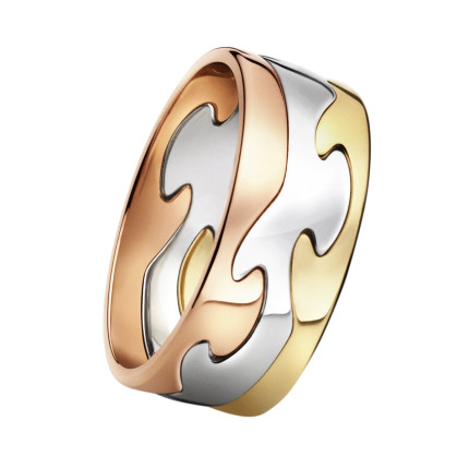 FUSION 3.1 ring - 18 kt. yellow, red and white gold