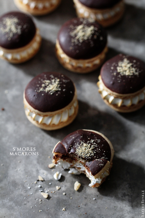 S'mores Macarons | Bakers Royale