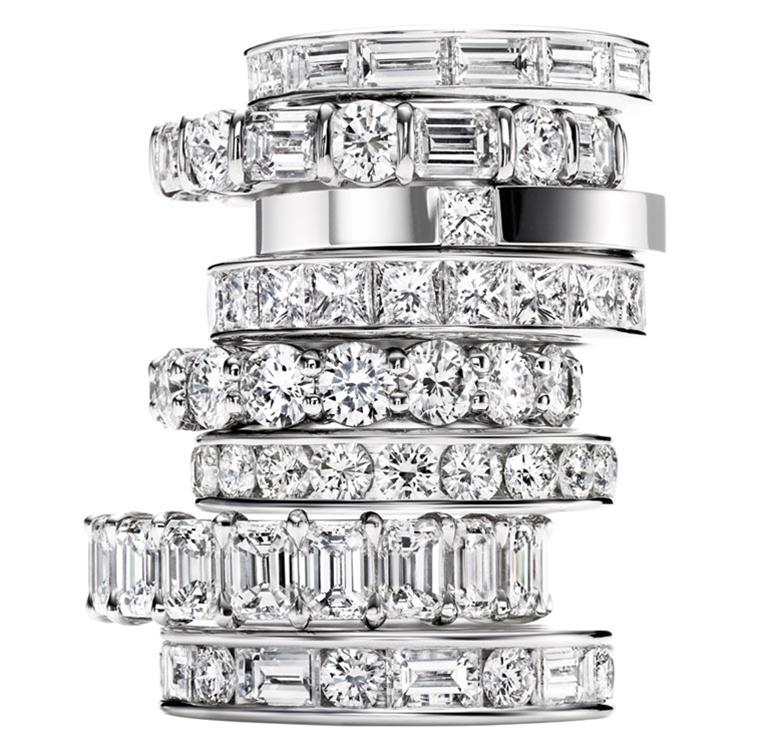 Harry Winston | Products | Engagement | Wedding Bands | Diamond Wedding Bands