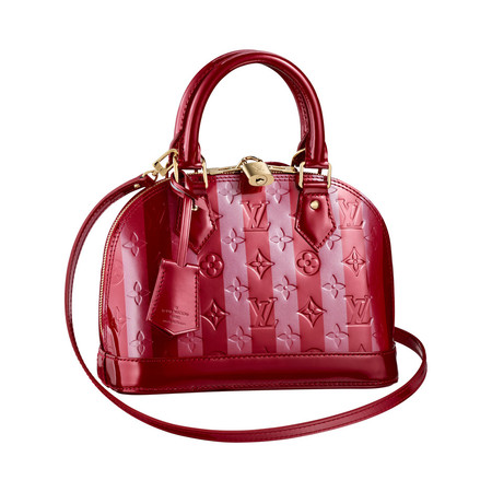 Купить сумку Louis Vuitton Alma MM Vernis Amarante