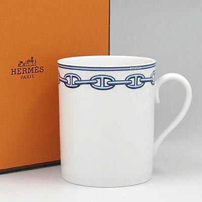 Rakuten: [and write a review free shipping] HERMES [HERMES] mug cup M2734 シェーヌダンクルブルー [Luxury Brand Selection] [smtb-m] [YDKG-m]- Shopping Japanese products from Japan