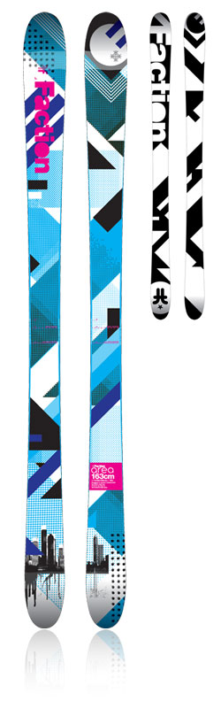 The Area park+pipe ski - FACTION SKIS   2011/12   SKIS FOR ADDICTS, BY ADDICTS