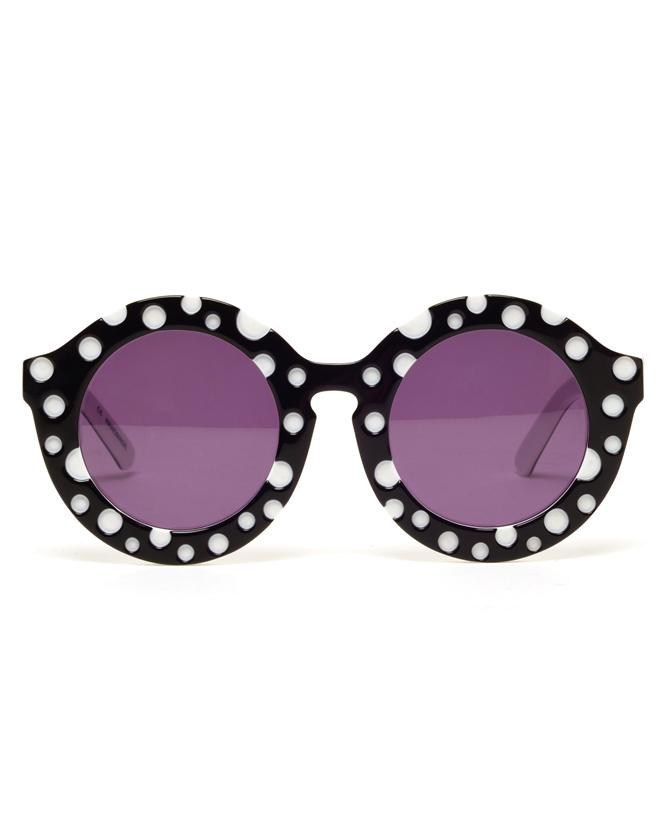 Browns fashion & designer clothes & clothing   HOUSE OF HOLLAND   'Dot' Round Acetate Sunglasses