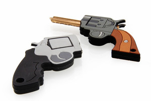 Killer Keys Rubber Key Fobs: Lethal Gun Shaped Key Holders!