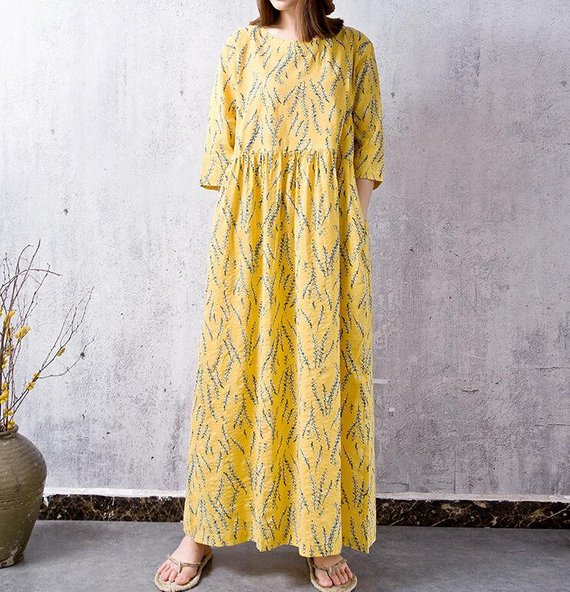 Women maxi dress linen dress maxi long dress elegant dress