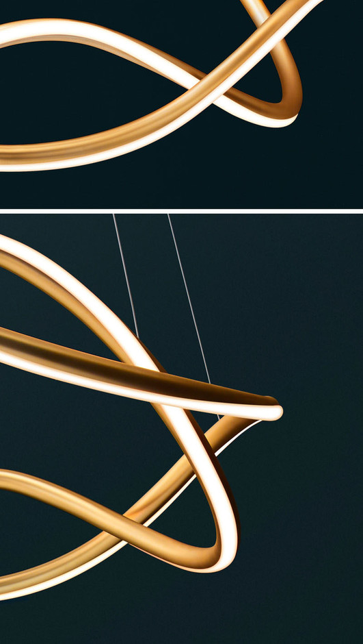 Luum Have Created Aurora, A Sculptural Suspended Lamp That Uses LED Lighting | CONTEMPORIST