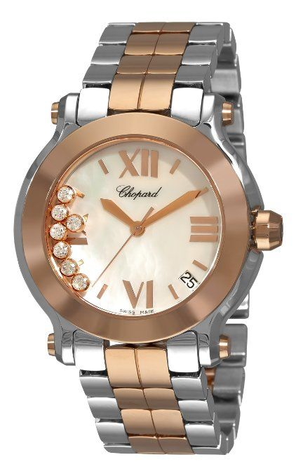 Classy ladies / Chopard Women's 278488-9002 Happy Sport Two Tone Mother-Of-Pearl Watch.