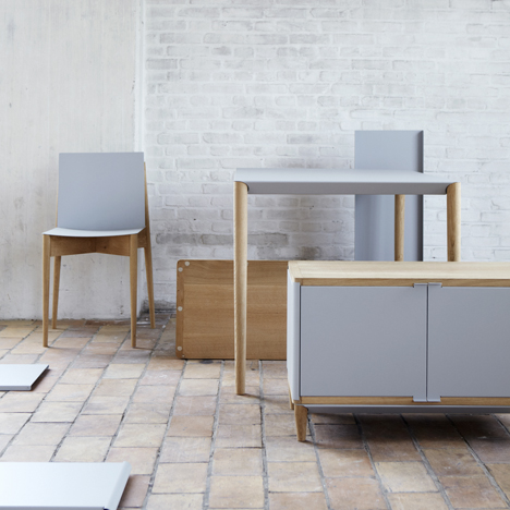 Flat-pack furniture assembled with magnets by Benjamin Vermeulen