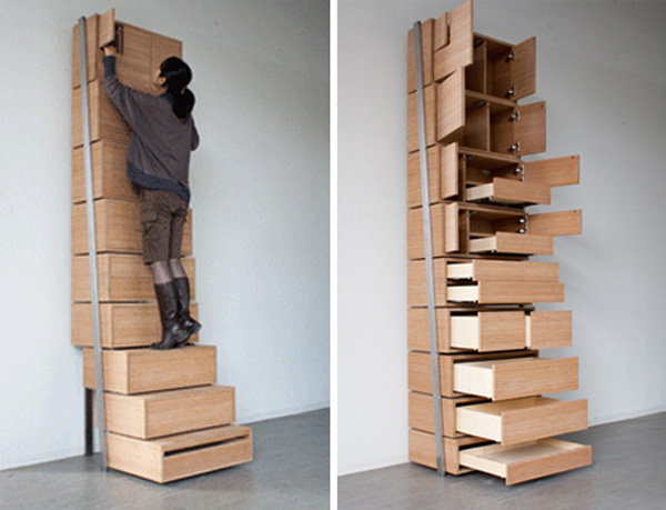 Staircase : A Space-Saving Storage Design by Danny Kuo - furnifurnish