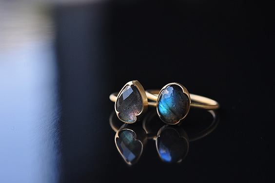 Pear Shape Faceted Labradorite Ring (Gabriella Kiss) - SOURCE objects